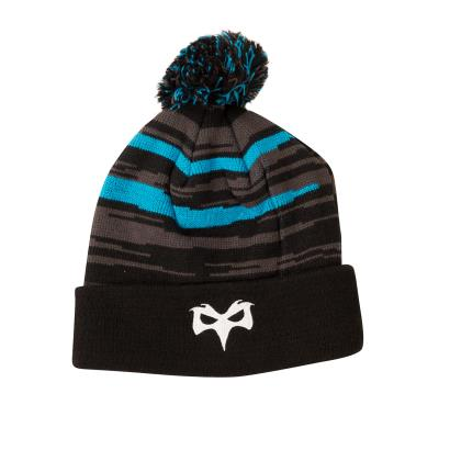 Ospreys Acrylic Bobble Hat Anthracite 2019 - Front