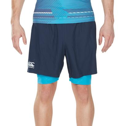Canterbury Vapodri 2 in 1 Run Shorts Total Eclipse - Front