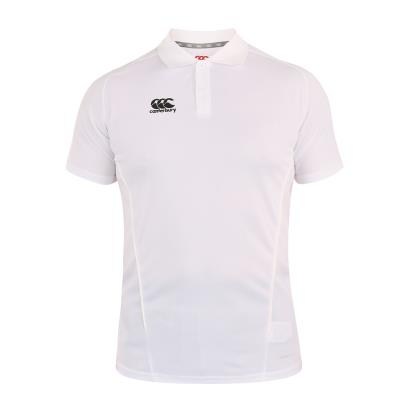 Canterbury Teamwear Team Dry Polo White front