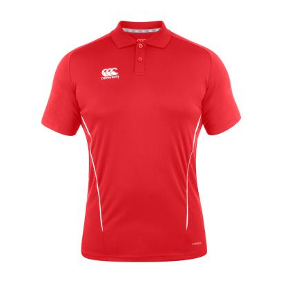 Canterbury Teamwear Team Dry Polo Red front