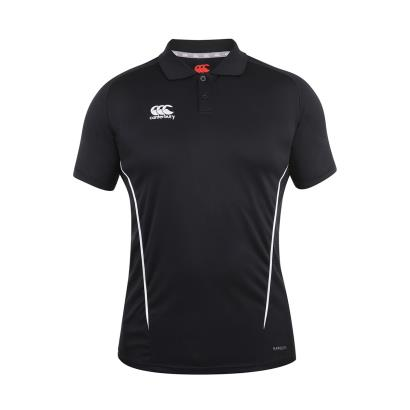 Canterbury Teamwear Team Dry Polo Black front