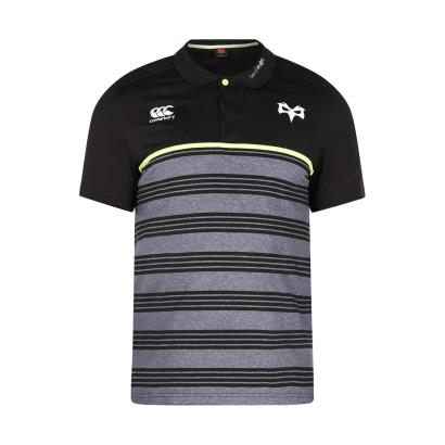 Ospreys Cotton Jersey Stripe Polo Tap Shoe 2018 - Front