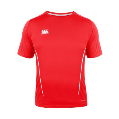 Canterbury Teamwear Team Dry Tee Red Kids - Front