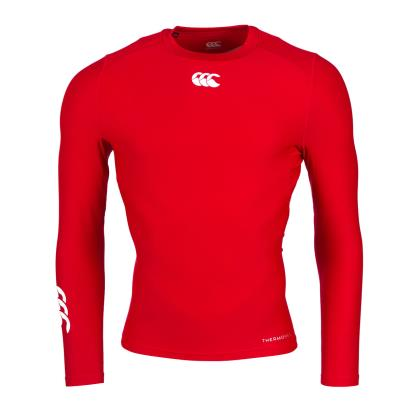 Canterbury Thermoreg Baselayer L/S Cold Top Flag Red - Front