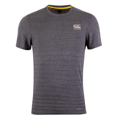 Canterbury Vapodri Performance Cotton Tee Total Eclipse Marl front