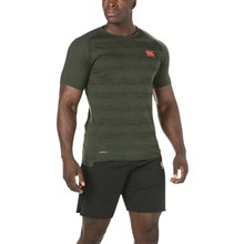 Canterbury Performance Cotton Tee Urban Khaki Marl - Model 1