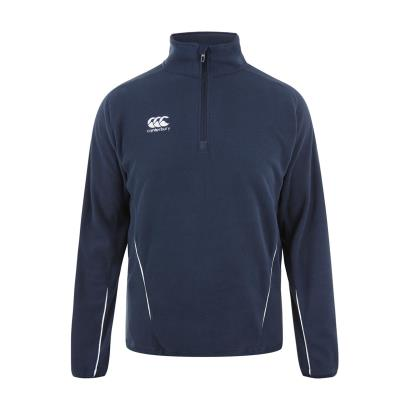 Canterbury Teamwear Team 1/4 Zip Microfleece Navy front