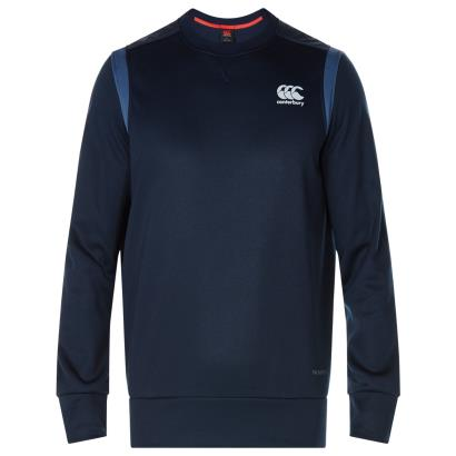 Canterbury Thermoreg Bonded Fleece Crew Top Total Eclipse - Front