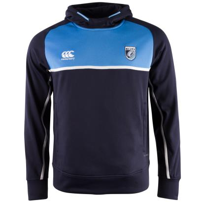 Cardiff Blues Thermal Layer Hoodie Navy 2018 - Front