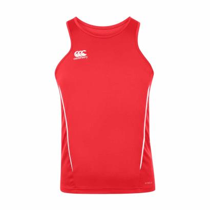 Canterbury Teamwear Team Dry Singlet Red front
