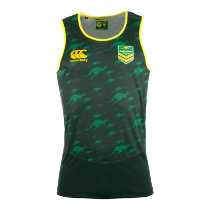 Kangaroos Training Singlet Dark Forest - Front