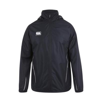 Canterbury Teamwear Team Full Zip Rain Jacket Black - Front