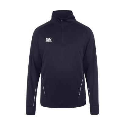 Canterbury Teamwear Team 1/4 Zip Mid Layer Top Navy Kids - Front