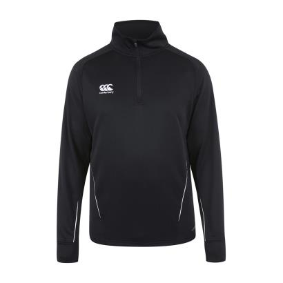 Canterbury Teamwear Team 1/4 Zip Mid Layer Training Top Black front