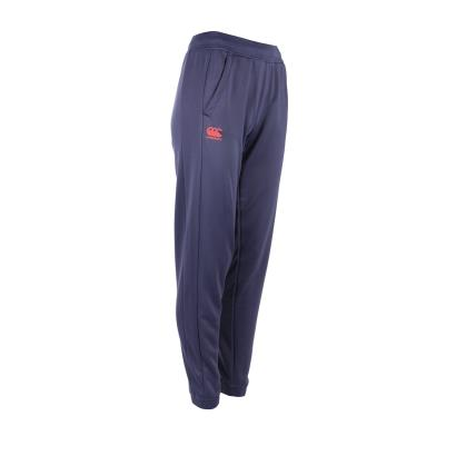 Canterbury Ladies Poly Tapered Cuff Fleece Pants Blue - Front 1