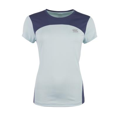 Canterbury Ladies Vapodri Training Tee Starlight Blue Marl - Front