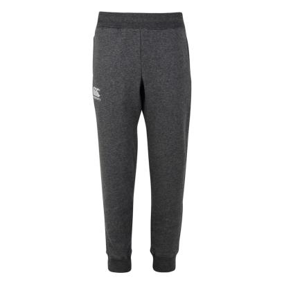 Canterbury Tapered Cuffed Fleece Pants Charcoal Kids - Front