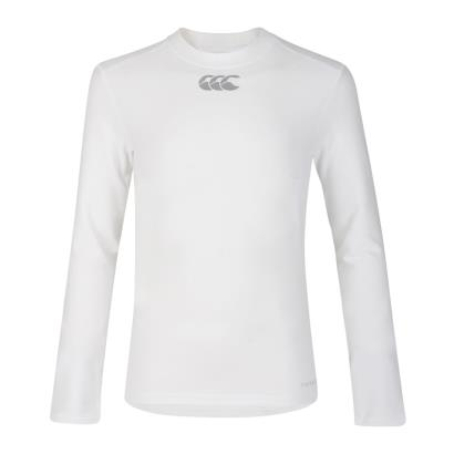 Canterbury Thermoreg Baselayer L/S Cold Top White Kids - Front