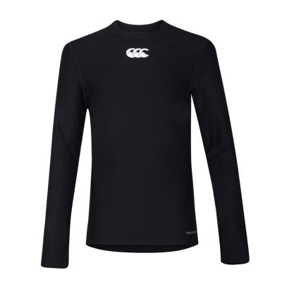 Canterbury Thermoreg Baselayer L/S Cold Top Black Kids - Front