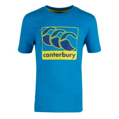 Canterbury Graphic Tee Blue Danube Kids - Front