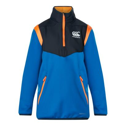 Canterbury Thermoreg Spacer Fleece 1/4 Zip Snorkel Blue Youths - Front