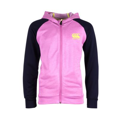 Canterbury Girls Poly Fleece Full Zip Hoody Violet Marl - Front