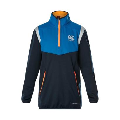 Canterbury Thermoreg Fleece 1/4 Zip Top Total Eclipse Youths - Front