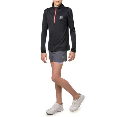 Canterbury Girls Vapodri 1/4 Zip Top Total Eclipse Marl - Model 1