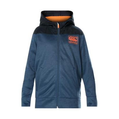 Canterbury Vaposhield Fleece Full Zip Hoodie Denim Marl Youths - Front
