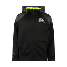 Canterbury Vaposhield Full Zip Hoodie Black Kids - Front
