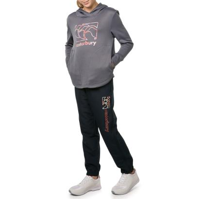 Canterbury Age 14 Girls Vaposhield Pullover Hoodie Grisaille - Model 1