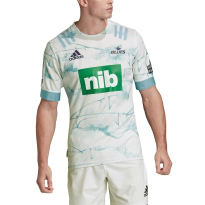 Super Rugby Blues Prime Blue Rugby Shirt S/S 2020 - Model 1