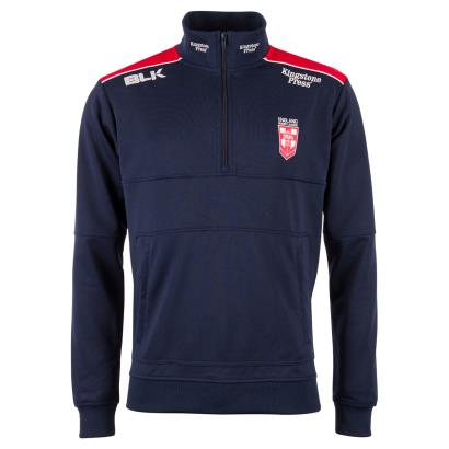 England Rugby League Travel Jacket Navy 2018 - Front
