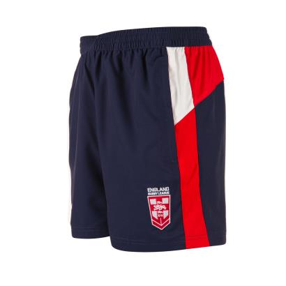 England Rugby League Gym Shorts Navy 2018 - Front 1