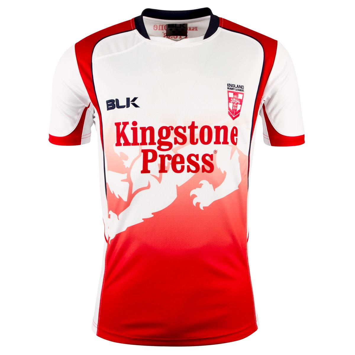 2018 Mens Red England Rugby League Training Tee Shirt  df4b88c43d81