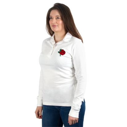 England Womens Classic Rugby Shirt L/S - Model 1
