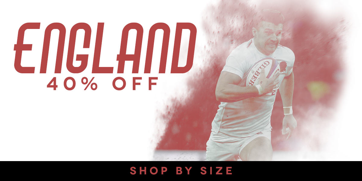 40% off England - SHOP BY SIZE!