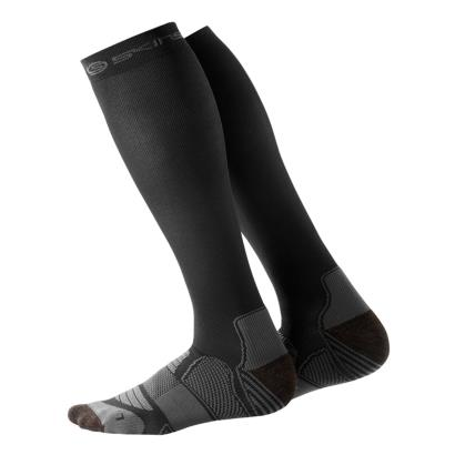 Skins Active Compression Socks Black/Pewter - Front