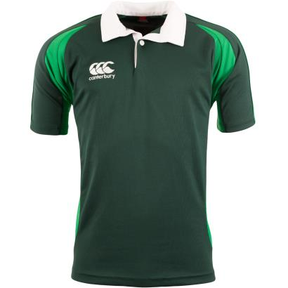 Canterbury Teamwear Focus Shirt Forest/Emerald Kids - Front