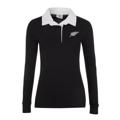 New Zealand Womens Classic Rugby Shirt L/S - Front