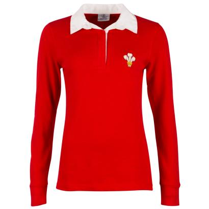 Wales Ladies Classic Rugby Shirt L/S - Front