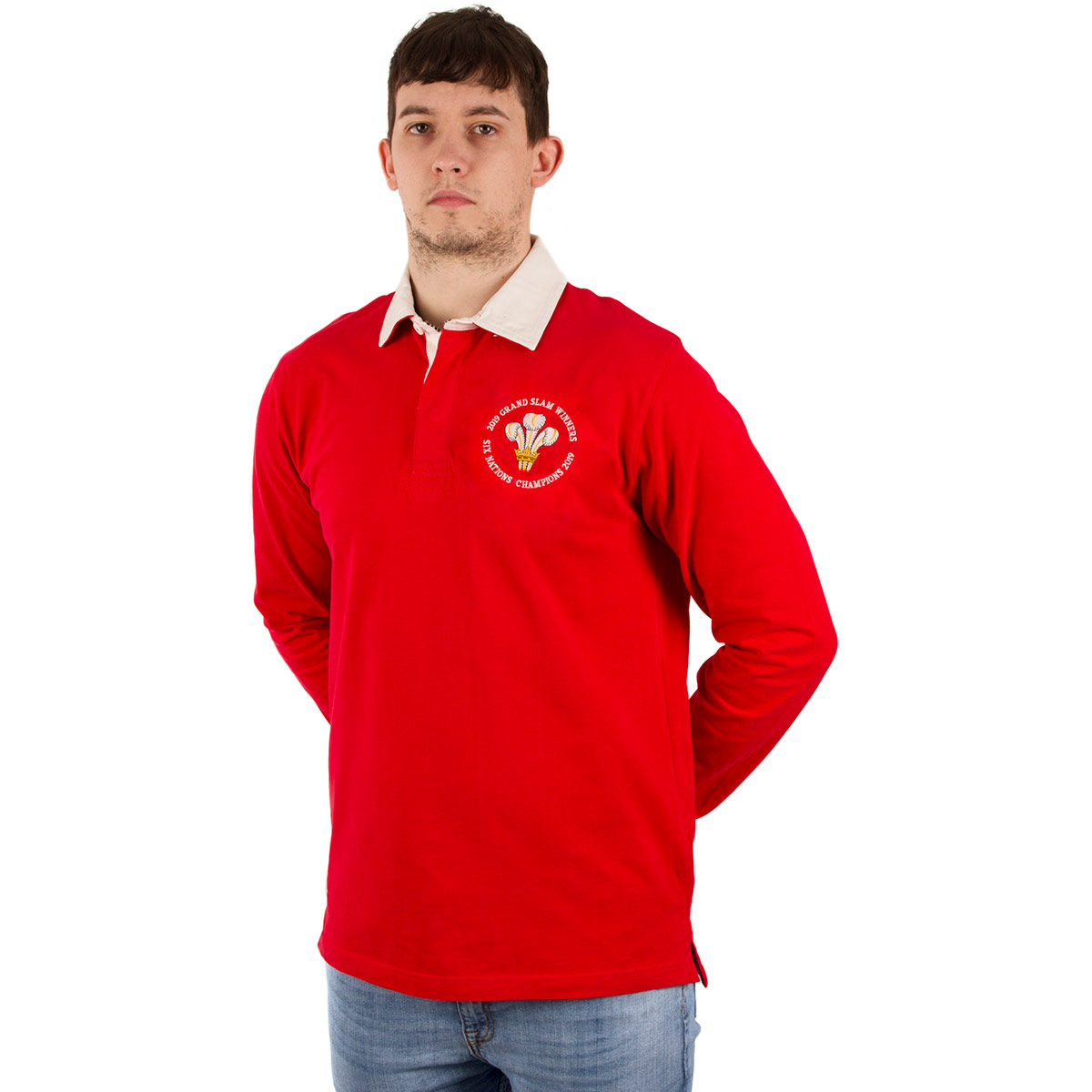 3189f254cd3 Wales 6 Nations/Grand Slam Winners Vintage Rugby Shirt L/S - Model 1