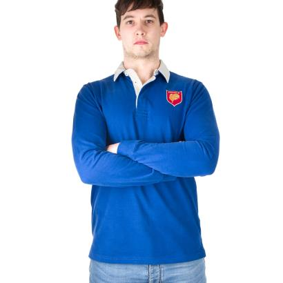 France Heavyweight Vintage Rugby Shirt L/S - Front