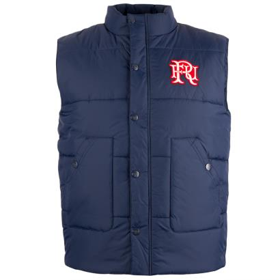 Front Up Rugby Birkett Quilted Gilet Navy - Front