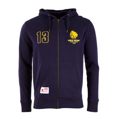 Great Britain Rugby League 1989 Full Zip Hoodie Navy - Front