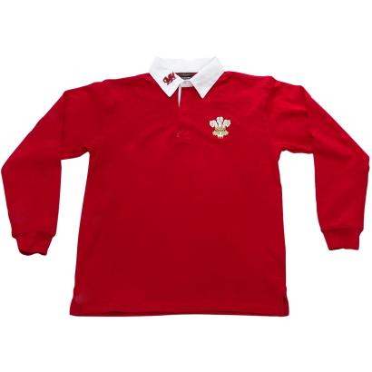 Wales Classic Rugby Shirt L/S Kids - Front