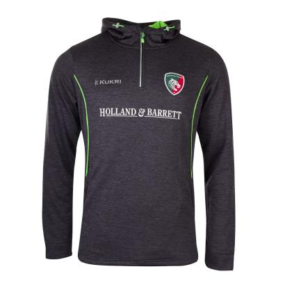 Leicester Tigers Match Day Performance Hoodie Navy Kids 2020 - Front