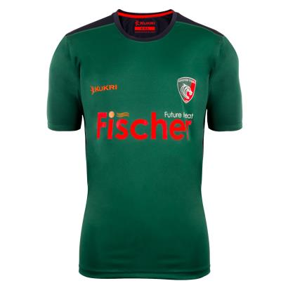 Leicester Tigers Training Tee Green 2018 - Front