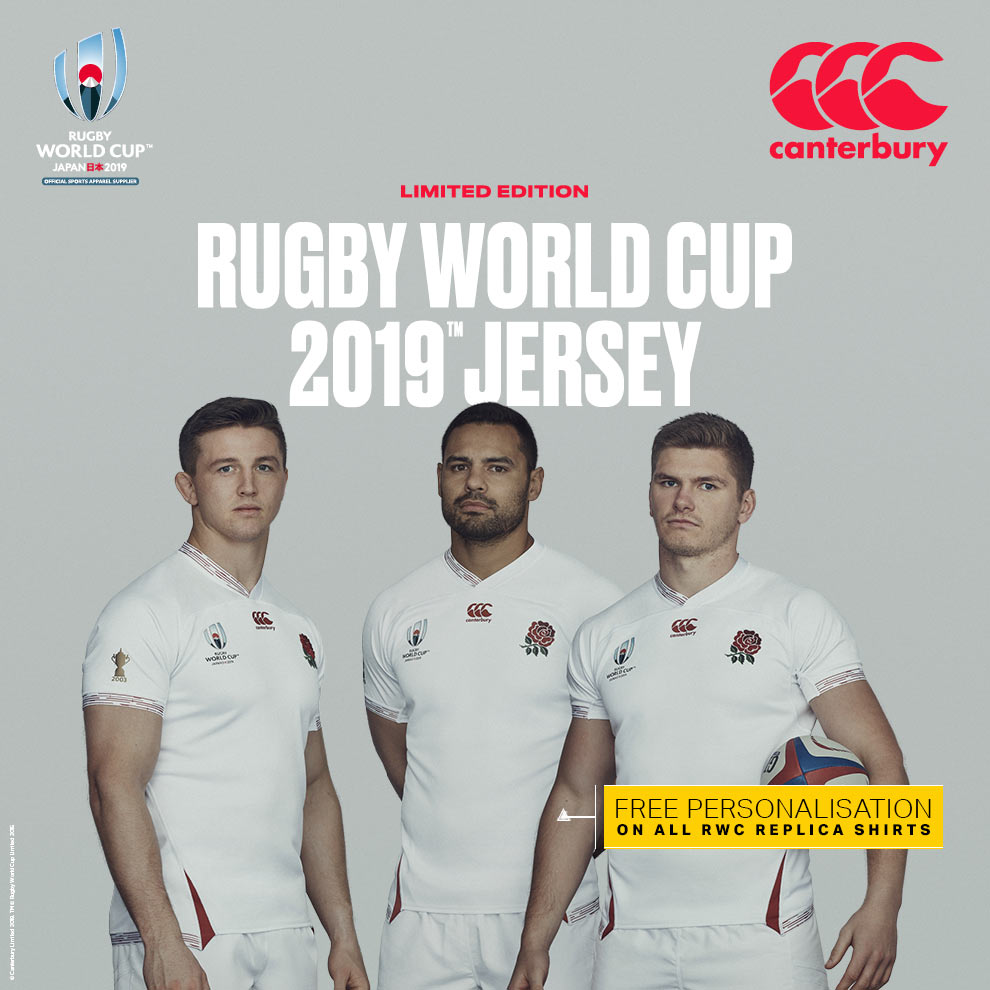 England Rugby World Cup rugby shirts - AVAILABLE NOW