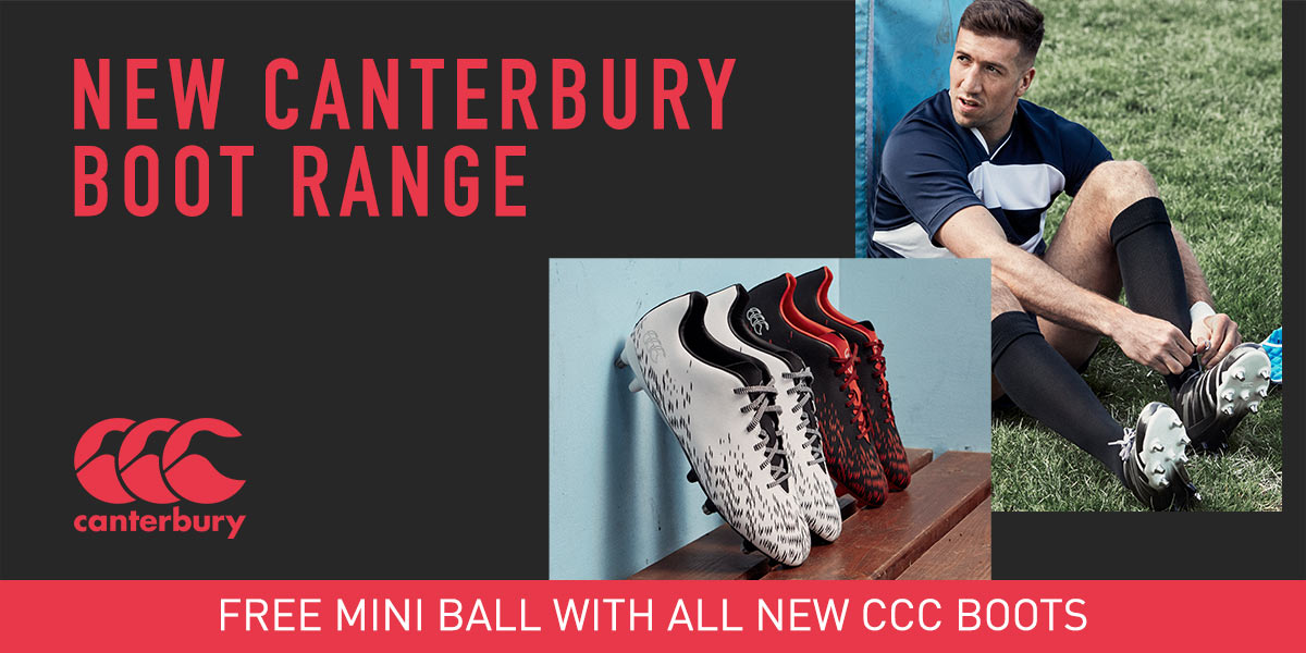 New Canterbury Rugby Boots + Free Mini Rugby Ball - SHOP NOW!